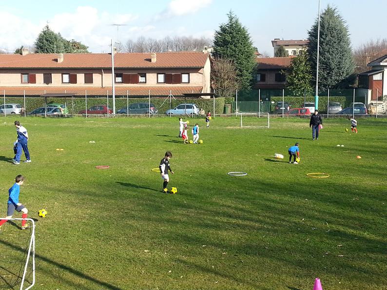 il mini calcio in campo