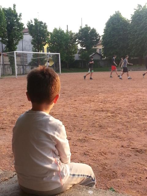 l'Agorà il campo di calcio