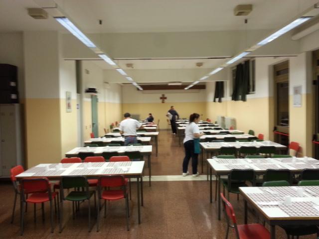 la preparazione della sala